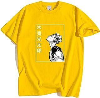 Camisetas Haikyuu Bokuto Koutarou Estampado Hombres Hip Hop Casual Tops Verano Moda Camiseta Kuroo Anime Casual
