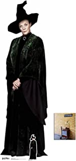 Fan Pack - Professor McGonagall ( Dame Maggie Smith ) Harry Potter Lifesize and Mini Cardboard Cutout / Standup - Includes 8x10 Star Photo
