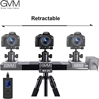 GVM New Model of Motorized Mini Size Track Rail Provides 6.5 inch can be Retract and Extend to 13 inch Length, idea for Outdoor Video Shooting, Travelers, Photographers, filmmakers