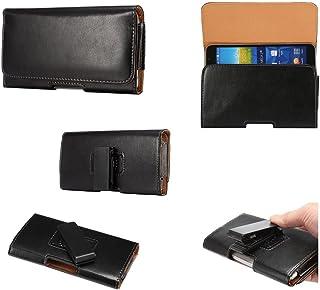 DFV mobile - Executive Holster Magnetic Leather Case Belt Clip Rotary 360º for MyWigo Magnum 2 Pro - Black