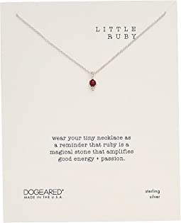 Little Ruby, Dotted Bezal Ruby Necklace
