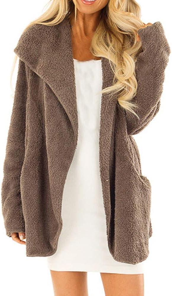 Women's 2021new shipping free shipping Fashion Long Max 71% OFF Sleeve Lapel Open Faux Shearling Shaggy Car