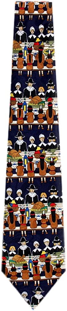 Mens Novelty Thanksgiving Theme Necktie Portland Mall Ties Raleigh Mall