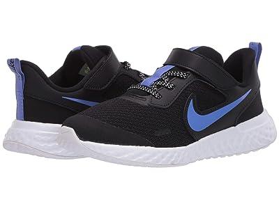 Nike Kids Revolution 5 Glitter (Little Kid) (Black/Sapphire/Lemon Venom/White) Kids Shoes