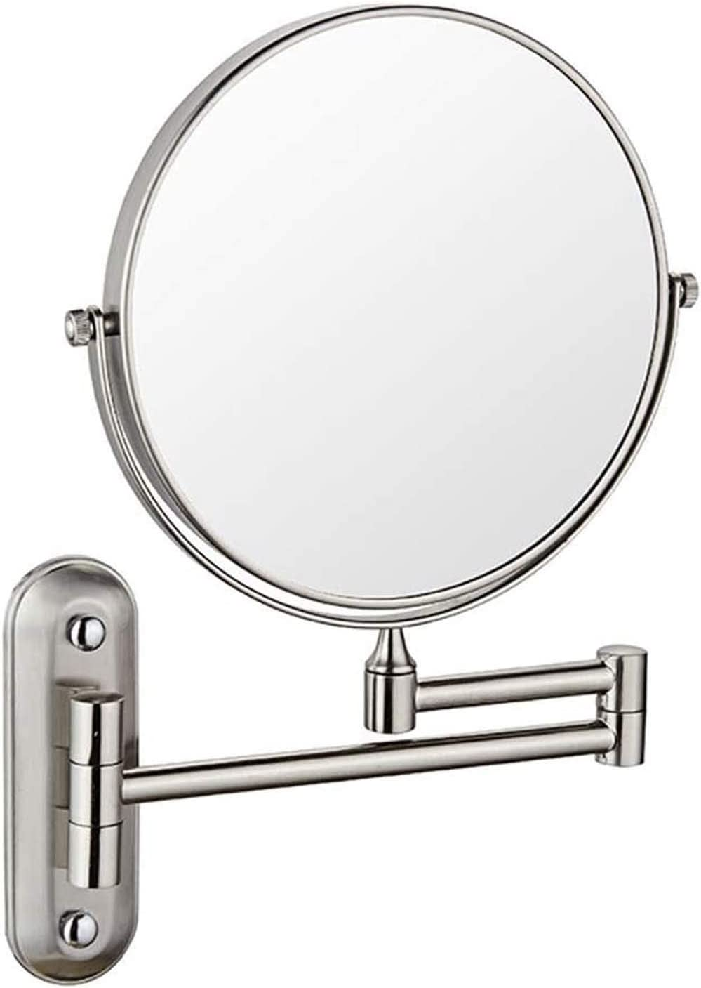 Manufacturer direct delivery Indianapolis Mall ZHCHL Makeup Mirror Wall Mounted Make Bat 8inch Round Up
