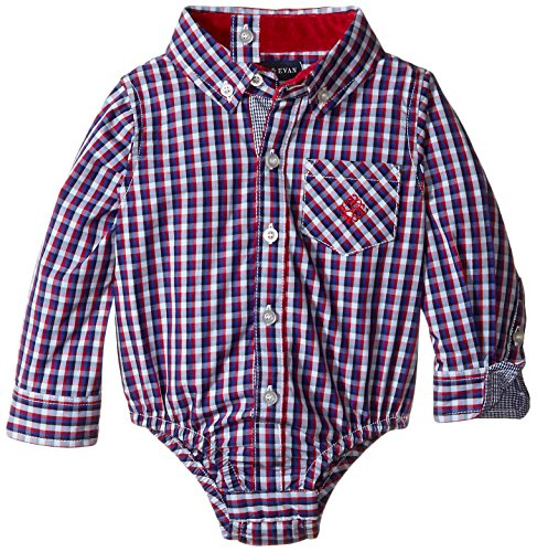 Andy & Evan Baby Boys' Red and Blue Tight Check Shirtzie, Red, 18-24 Months