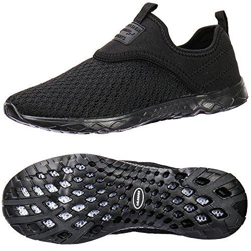 ALEADER Men's Slip-on Athletic Water Shoes Black/Blk 8 D(M) US