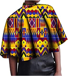 Doufine Womens Baggy Style Ethnic Style Blouse African Dashiki Cotton Tees Top