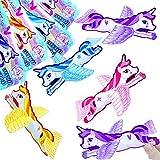 German Trendseller - 6 x planeadors unicornio ┃voladores unicornios┃los colores del arco iris┃ fiestas infantiles┃ idea de regalo┃piñata┃cumpleaños de niños┃ 6 unidades