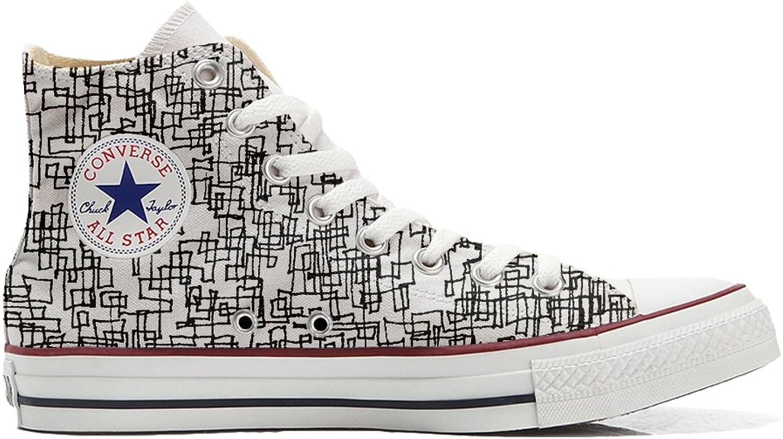 Converse All Star Hi Customized personalisiert Schuhe (gedruckte Schuhe) Schuhe) Schuhe) Abstract  7905cb