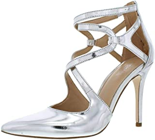 Womens Catia Leather Pointed Toe Ankle Strap Classic Pumps