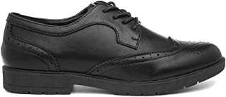 Lilley Womens Brogue Lace Up Shoe in Black