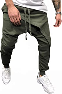 Men's Joggers, Sweatpants, Low Crotch Sweats Slim Fit Trousers Harem Hip Hop Pants