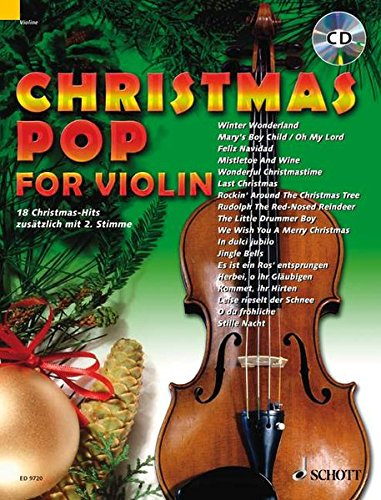 Christmas Pop for Violin: 18 Christmas-Hits. 1-2 Violinen. Ausgabe mit CD.