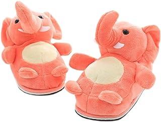 LANFIRE Pantoufles d'animaux Pantoufles d'éléphant Pantoufles Chaudes d'hiver