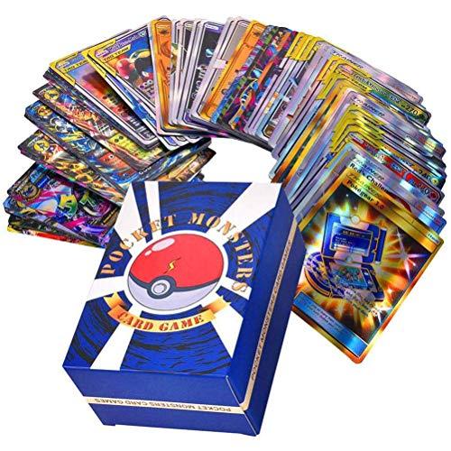 SUPYINI Pokémon-Sammelkarten, Shiny Pokemon-Sammelkarten Kids Game, Pokemon-Geschenke, Pokemon Gold Card (120PCS)