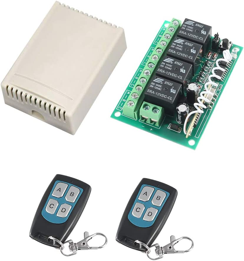 DC 12V 4-Channel Minneapolis Mall Wireless Remote Max 45% OFF MELIFE R Control 433Mhz Switch