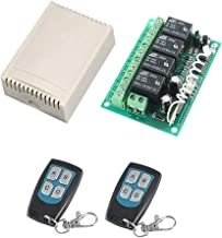 433Mhz RF Switch Long Range DC 12V 4-Channel Wireless Remote Control Switch MELIFE 2 Transmitter & 1 Receiver for Garage Door Openers, Cars, LED Lights & More