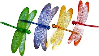 Shimigy 4Pcs 3D Dragonfly Shape Fridge Fridge Magnet Refrigerator Sticker Home Decor Set