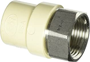 King Brothers Inc. TFS-1000 Female X Socket PXL CPVC X Stainless Steel Transition Adaptor, Tan, 1-Inch