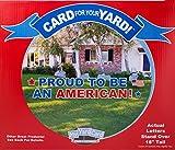 My Yard Carte–Fiers d'être Un américain.–Cour de vœux, Carte DE 23pièces; pelouse Piquets Inclus par My Yard Carte