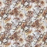 Fabulous Fabrics Jerseystoff Lochmuster Leoprint – braun