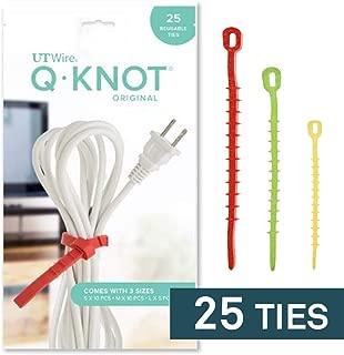 Q Knot Reusable Cable Tie, 25-Piece Pack