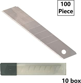 18mm Snap-Off Retractable Replacement Utility Knife Blade Trim Cut 100 Pack