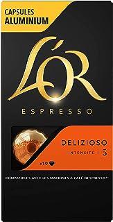 L'Or Espresso Café - 200 Capsules Delizioso Intensité 5 - compatibles Nespresso®* (lot de 20 x 10)
