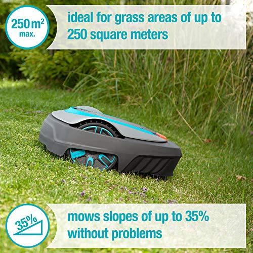 Gardena 15001-41 SILENO City 2700 sq ft Robotic Lawn Mower, Grey