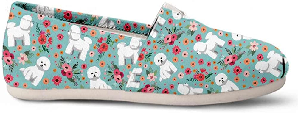Gnarly Tees Bichon Frise Flower Casual Shoes