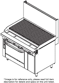 Southbend P48A-CCCC NG - 48-in Range w/ Stainless Radiant Charbroiler, Manual, Convection Oven, NG