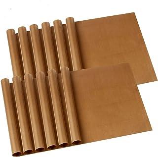 """12 Pack PTFE Teflon Sheet 12""""x16"""" for Heat Press Reusable Non Stick Craft Mat Transfer Sheet Brown"""
