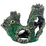 Conjunto de decoración de Tronco de Acuario, Resina Adornos de rocosas, Accesorios de Tanques de Pescado, Acuario de la decoración del Paisaje de Acuario