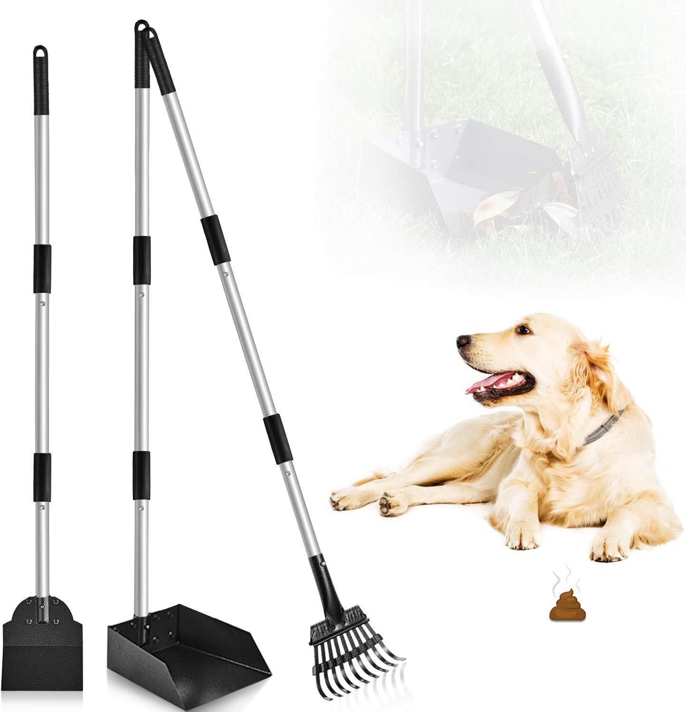 Petrip Poop Ranking [Alternative dealer] TOP15 Scooper 3 Pack Metal Long Rak Scoop Dog Handle