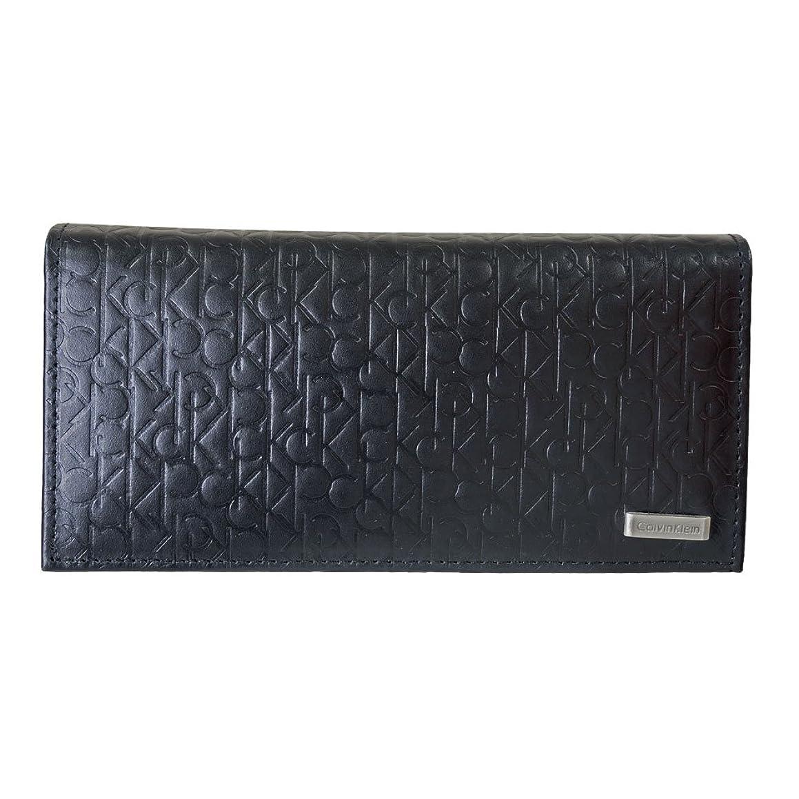 適合する干渉する利得(カルバンクライン)Calvin Klein  74283 ブラック ロゴ型押し 長財布  メンズ(並行輸入品)