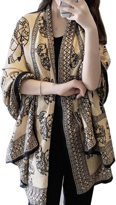 Aoli's Fashion Women's Boho Bohemian Oversized Fringe Poncho Scarf Wrap Shawl