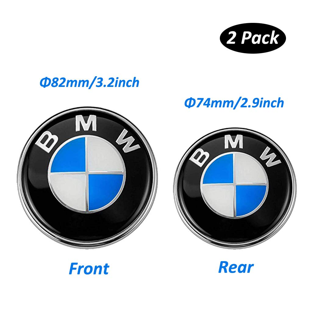 Bmw Emblems Hood And Trunk Bmw Emblem Logo Replacement 82mm 74mm For All Models Bmw