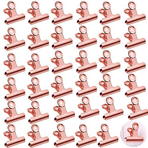Klammern,35 Stück Metall Clips,klammern für fotos,Papier Clips Klammern,für Küche zu Hause, Büro Zubehör
