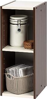 comprar comparacion Marca Amazon - Movian Librería modular con 2 estantes en MDF, Marrón, 25 x 29 x 60 cm