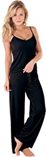 PajamaGram Women's Velour Cami Pajama with Tank Top and Pants