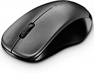 RAPOO 1620 2.4 GHz Wireless Optical Mouse, Up To 10000 dpi and Ambidextrous Design - Black