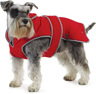 Muddy Paws Stormguard and Fleece Lining Coat, Red, X-Large