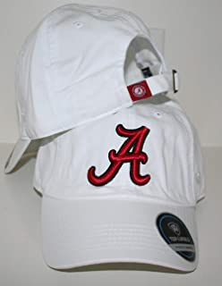 University of Alabama Crimson Tide Top White Crew Relaxed Unstructured Adult Mens/Womens Adjustable Baseball Hat/Cap