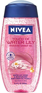 Nivea Touch Of Water Lily Hydrating Shower Gel, 8.4-Ounce Bottles (Pack of 3)