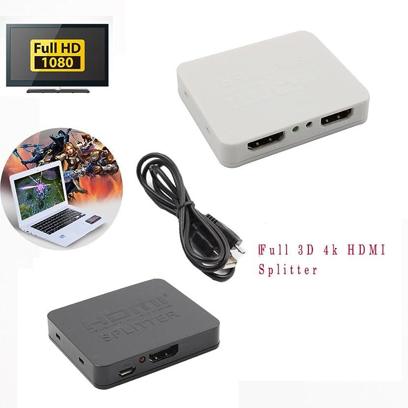 4K HDMI Splitter Full 3D 1x2 HDMI Splitter, 1 HDMI Input Signal Split to 2 HDMI Sink Devices, TLT Retail (Black)