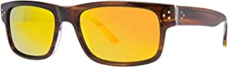 Randy Jackson RJRU S925P Mens Sunglasses - Brown/Gold Mirror