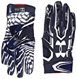 Under Armour Men's F5 Football Receiver Gloves, Midnight Navy/White, Large