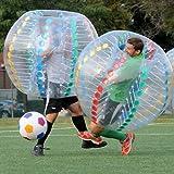 zzcj burbuja balón de fútbol multicolor diámetro 5'(1,5m) humanos hinchable parachoques pelotas de burbujas