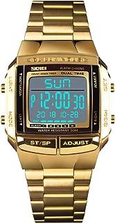 Unisex Luxury Digital Watches Multifunctional Stopwatch Countdown Alarm Backlight Water Resistant Watch